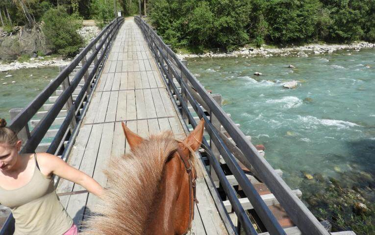 Horse back riding at JT Camp Switzerland